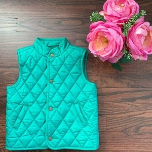 Janie & Jack green quilted vest, 2T